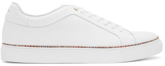 Paul Smith White Multistripe Piping Basso Sneakers