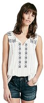 Lucky Brand Women's Contrast-Embroidery Tank Top