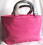 Neiman Marcus Bright Pink Patent Tote Hand Bag, Scent Event 2013, NEW!