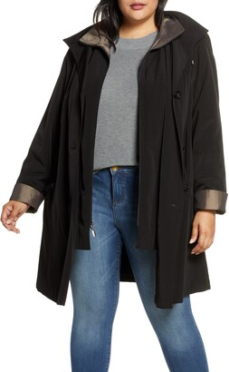 Gallery Hooded Raincoat with Liner