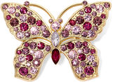 MONET JEWELRY Monet Pink Crystal Butterfly Pin