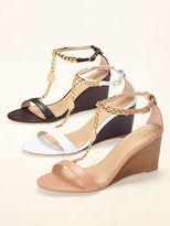 Victoria's Secret Collection Chain T-strap Wedge Sandal