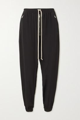 Rick Owens Zip-embellished Crepe Track Pants - Black