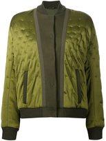 Maison Margiela quilted bomber jacket - women - Viscose/Wool - 40