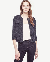 Ann Taylor Piped Pocket Sweater Jacket