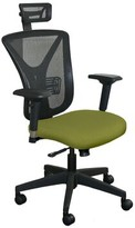 Weyer Mesh Task Chair Symple Stuff Upholstery Color: Fennel Fabric and Black Base, Headrest Included: Yes