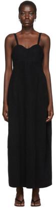 Jil Sander Black Wool Bustier Dress