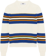 MSGM Striped cotton sweater