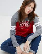 Hollister Logo Top With Color Block Detail