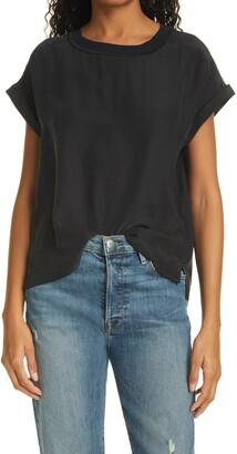 Frame Oversize Silk T-Shirt