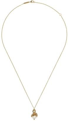 Stephen Webster 18kt yellow gold Gemini Astro Ball pearl pendant necklace