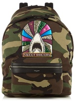 Saint Laurent Giant City Camouflage-print Cotton Backpack