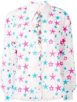 DELPOZO star embroidered shirt - women - Cotton - 38