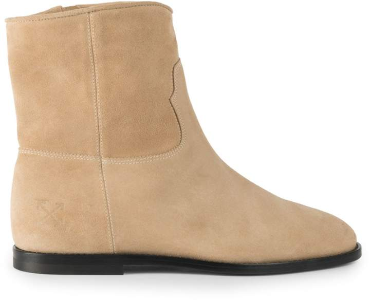 3fadc48af12 Off White Paperclip Chelsea Suede Boots