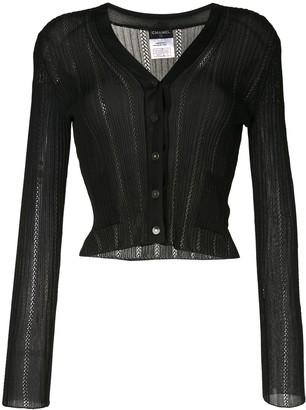 Chanel Pre Owned Semi-Sheer Buttoned Cardigan