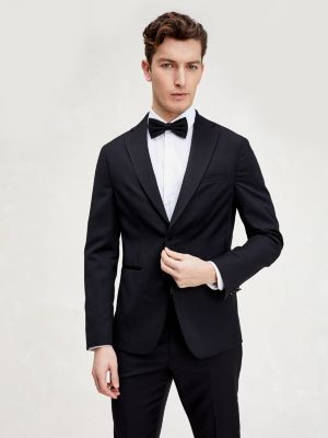 Tommy Hilfiger Virgin Wool Slim Fit Tuxedo Blazer