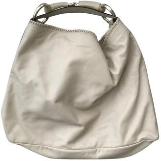 Gucci Hobo Ecru Leather Handbags