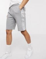 adidas shorts with lock up logo in grey