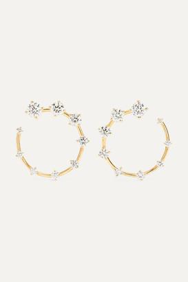 Fernando Jorge Circle Small 18-karat Gold Diamond Earrings - one size