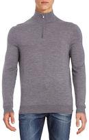 Black Brown 1826 Superfine Merino Half-Zip Sweater