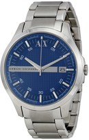 Armani Exchange Blue Textured Dial Stainless Steel Men's Watch