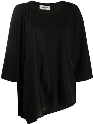 Zucca asymmetric hem T-shirt