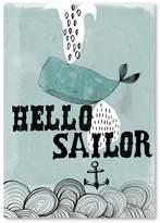 Americanflat Hello Sailor Print Art, Print Only