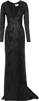 J. Mendel J.Mendel J.mendel Appliqued Metallic Silk Gown