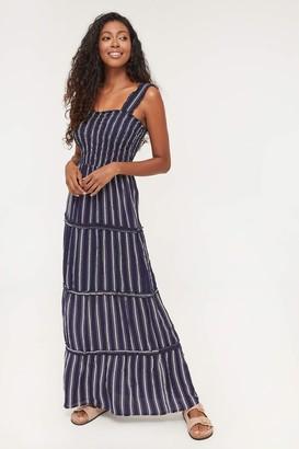 Ardene Smocked Striped Maxi Dress