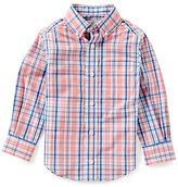 Class Club Big Boys 8-20 Button-Front Plaid Long-Sleeve Shirt