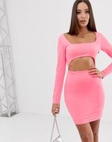 Asos Design DESIGN mini dress with cut out