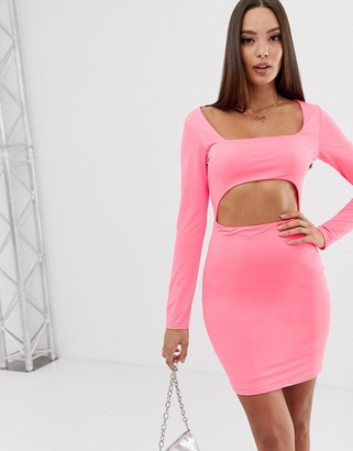 Asos DESIGN mini dress with cut out
