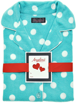 Angelina Aqua Dot Fleece Pajama Set - Plus Too