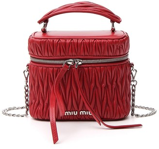 Miu Miu Matelasse Box Shoulder Bag