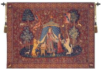 Charlotte Home Furnishings Inc. A Mon Seul Desir I European Tapestry Wall hanging