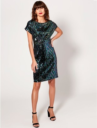 M&Co Sequin knot front dress