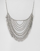 Missguided Festival Coin Multi-Layer Necklace