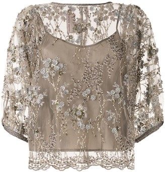Antonio Marras Embroidered Layered Blouse