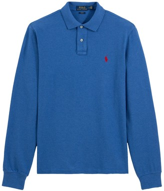 Polo Ralph Lauren Slim Long-Sleeved Cotton Polo Shirt
