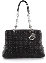 Christian Dior Pre-owned: Soft Zipped Shopping Tote Cannage Quilt Lambskin Medium.