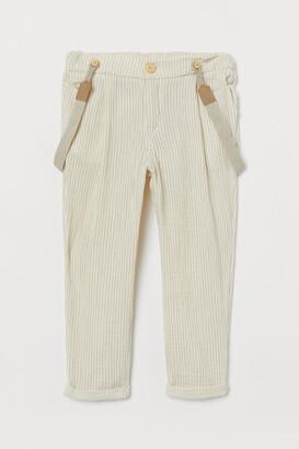H&M Pants with Suspenders - Beige