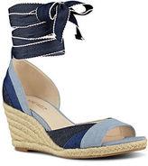 Nine West Jaxel Woven Espadrille Wedge Sandals