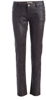 Couture Miss Kitty Women's Denim Pants and Jeans CHARCOAL - Charcoal Metallic Skinny Pants - Juniors