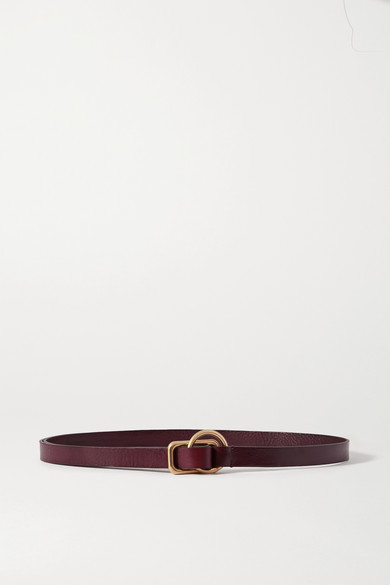 Thumbnail for your product : Andersons Textured-leather Belt - Dark brown