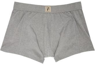Nudie Jeans Grey Solid Boxer Briefs