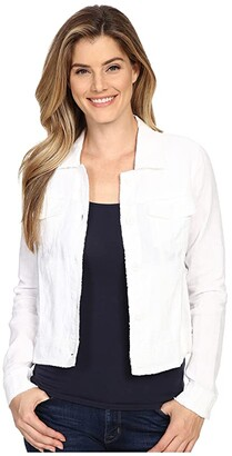 Tommy Bahama Two Palms Raw Edge Jacket (White) Women's Coat