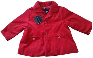 Burberry Red Cotton Jackets & Coats