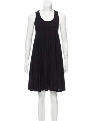 Celine Wool Empire Waist Dress Black Wool Empire Waist Dress