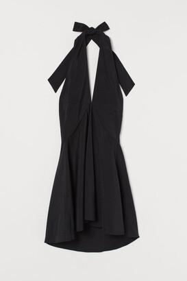 H&M Short Halterneck Dress - Black