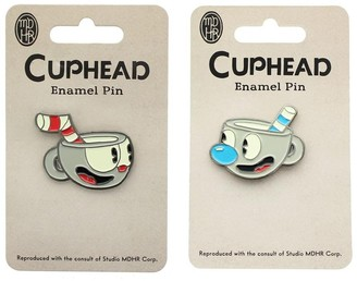 Overstock Cuphead and Mugman Enamel Pins, Set of 2 - Multi
